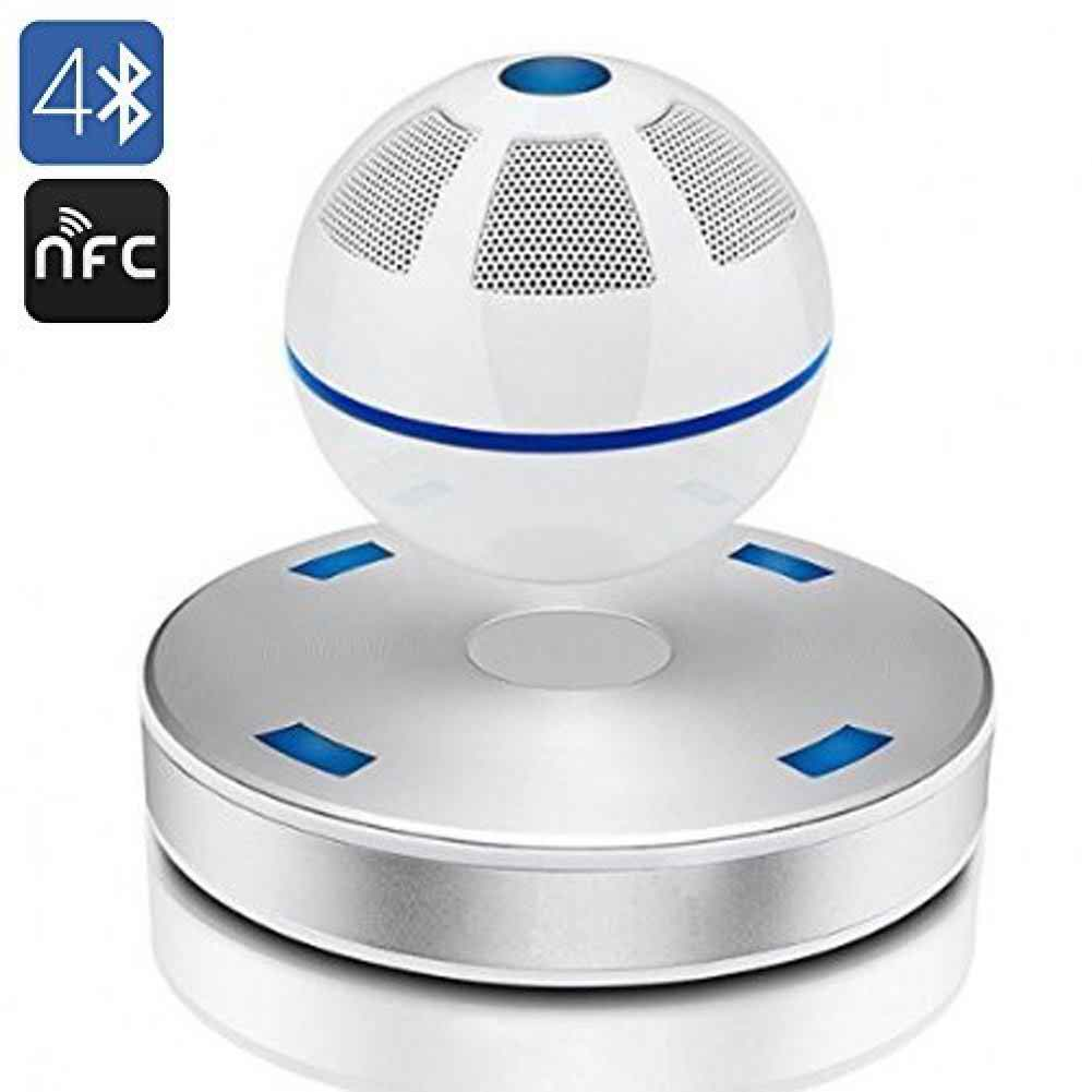 SS-01 floating Levitating maglev Bluetooth Speaker from SAINSONIC white