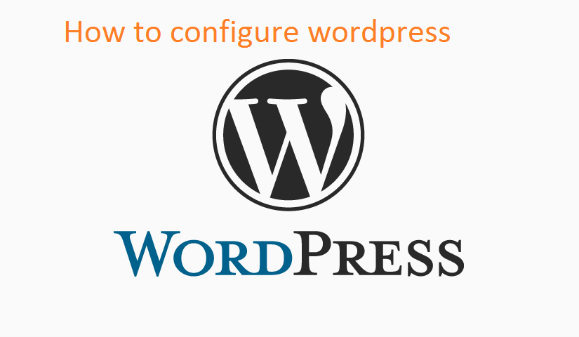 How to configure wordpress